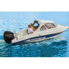 Катер стеклопластиковый Wyatboat-3П (полурубка)