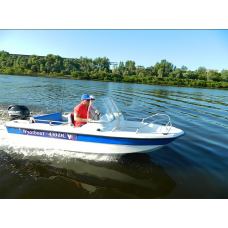 Катер стеклопластиковый Wyatboat-430 DC (тримаран)